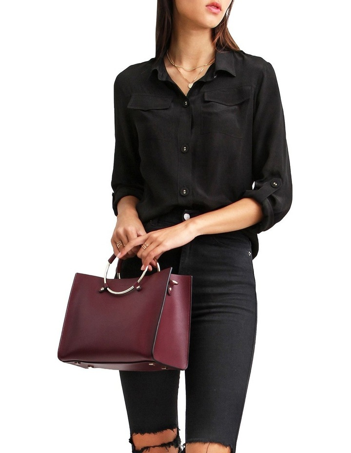 Eclipse Black Rolled Sleeve Blouse image 6