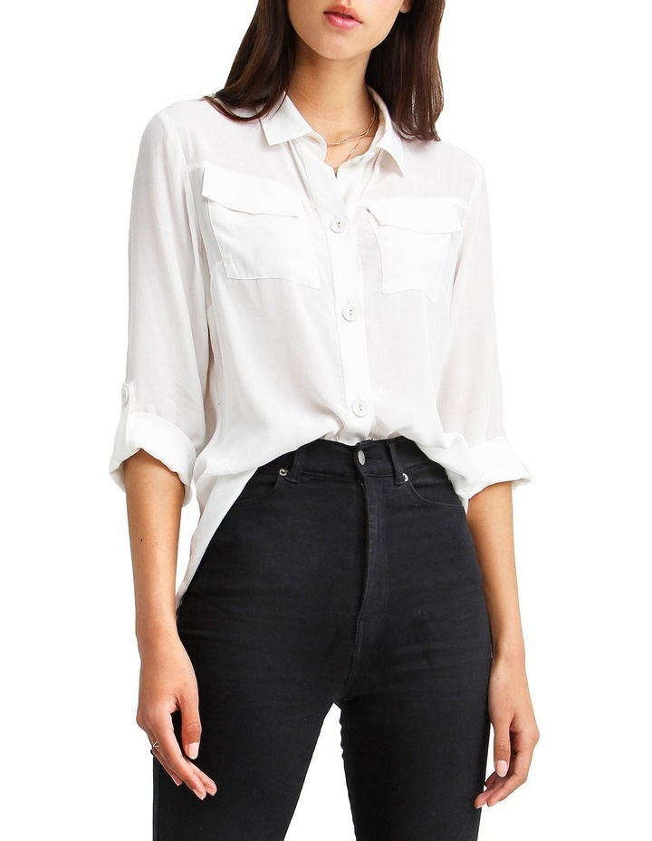 Eclipse Cream Rolled Sleeve Blouse image 1