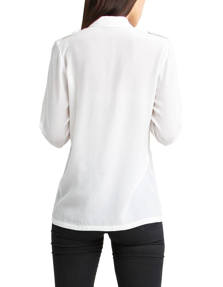 Eclipse Cream Rolled Sleeve Blouse image 3