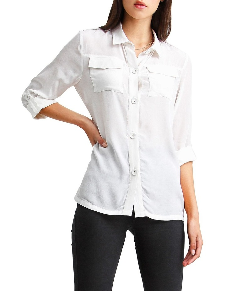 Eclipse Cream Rolled Sleeve Blouse image 4