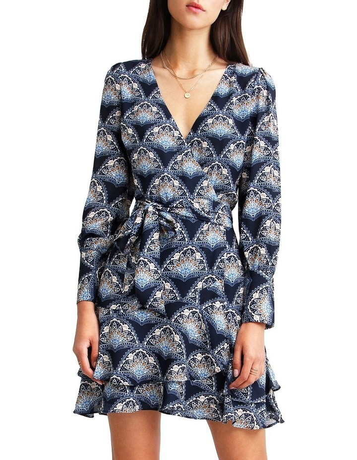 A Night With You Navy  Mini Wrap Dress image 1