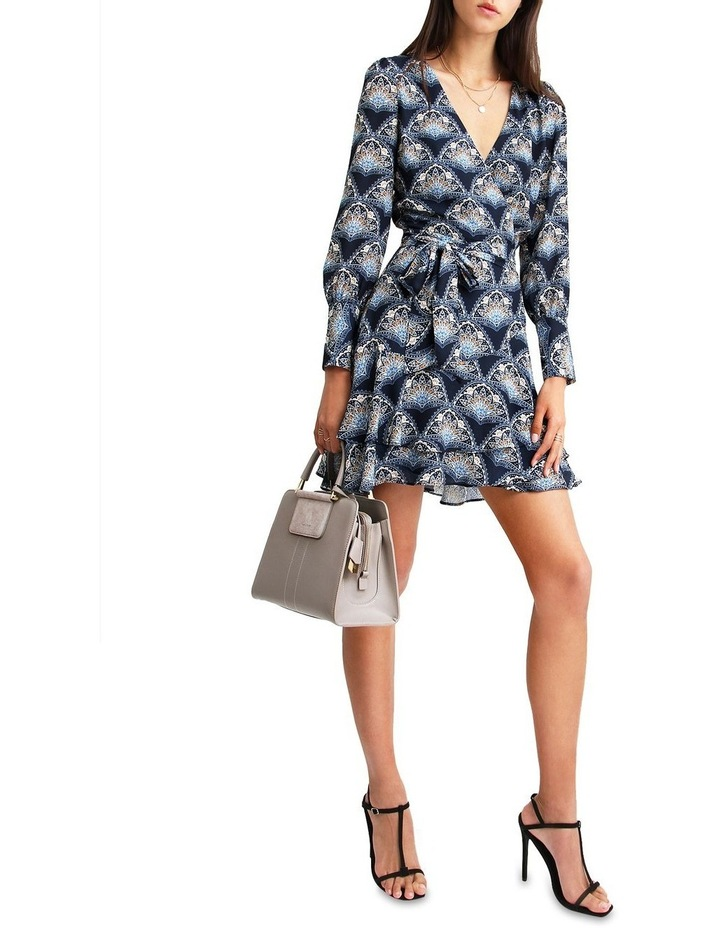 A Night With You Navy  Mini Wrap Dress image 5