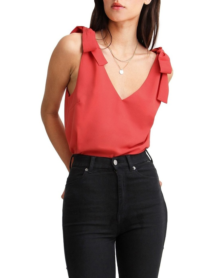 Feel For You Red V-Neck Top image 1