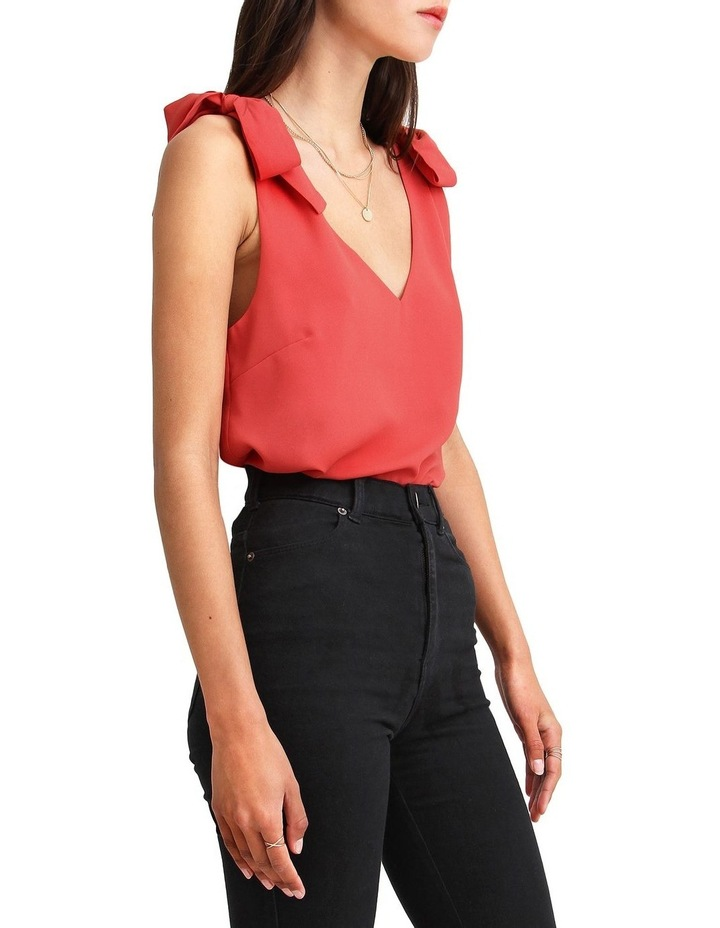 Feel For You Red V-Neck Top image 2