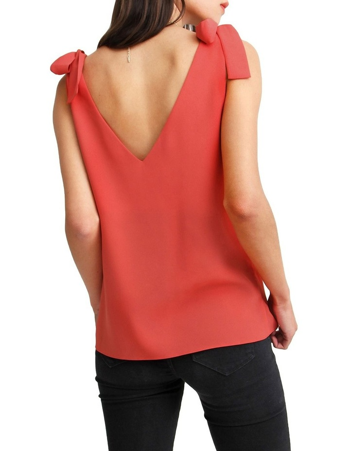 Feel For You Red V-Neck Top image 3