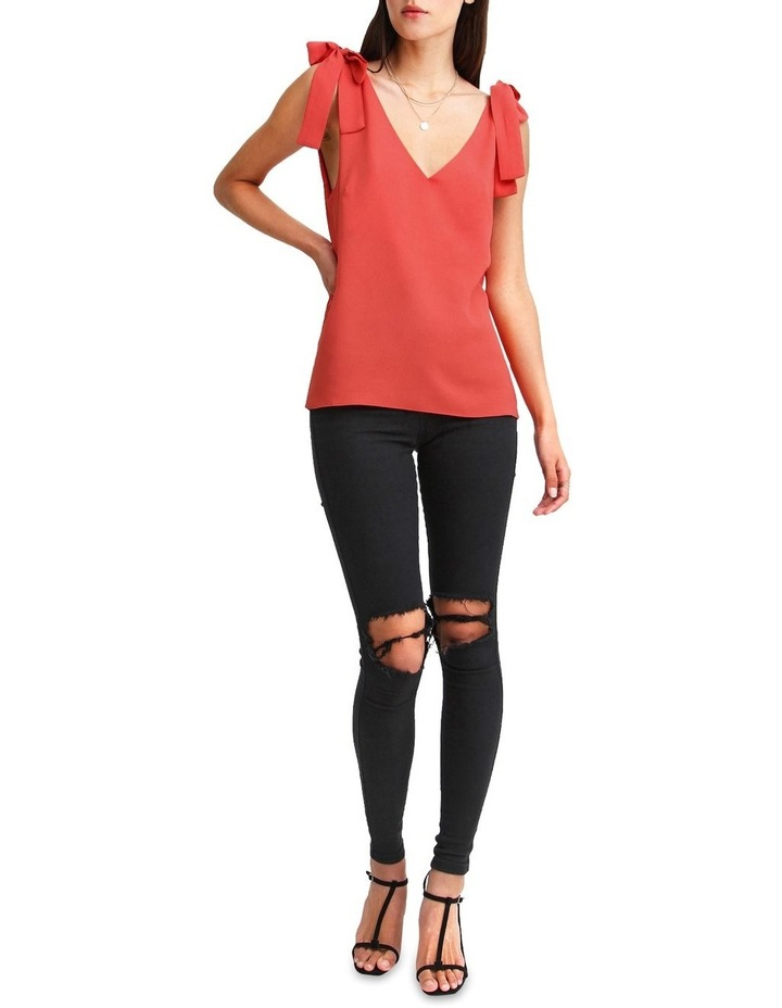Feel For You Red V-Neck Top image 4