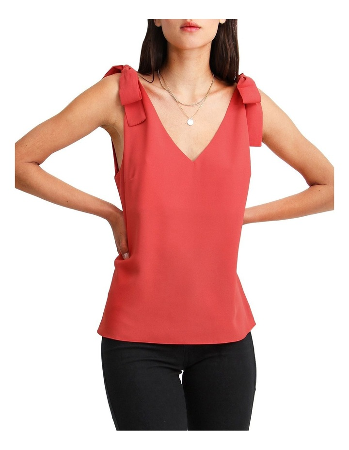 Feel For You Red V-Neck Top image 5