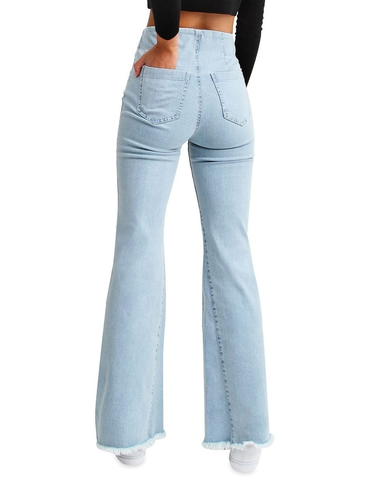 Flare Up Pull On Jeans image 3