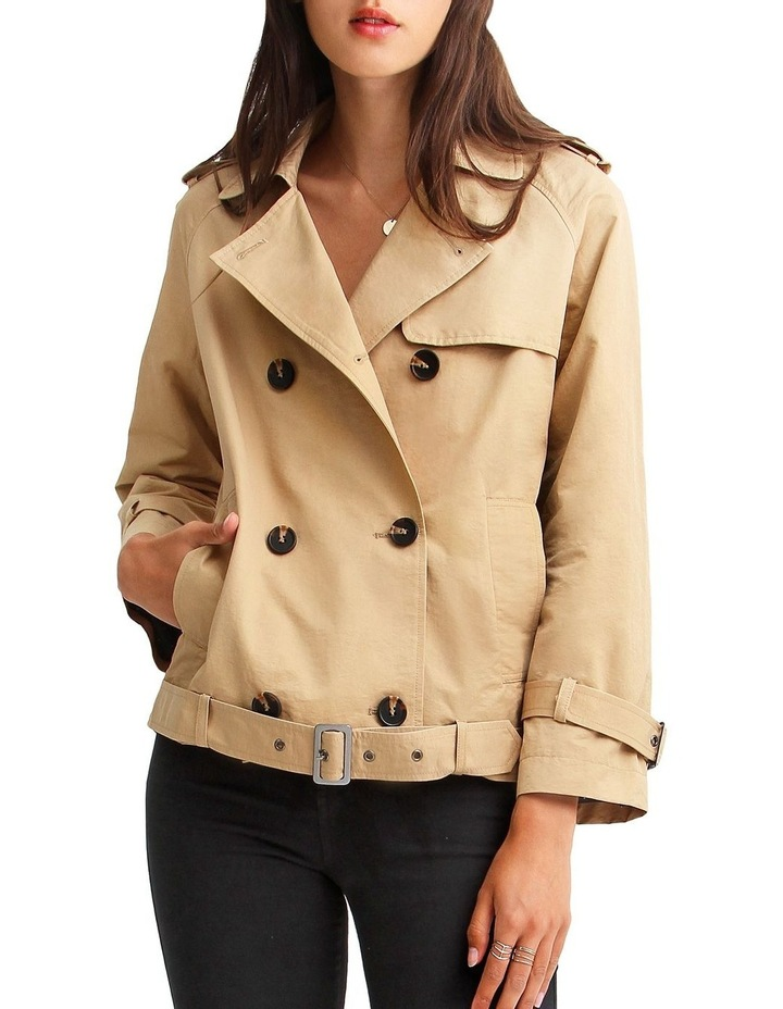 Cool Nights Cropped Trench Coat image 1
