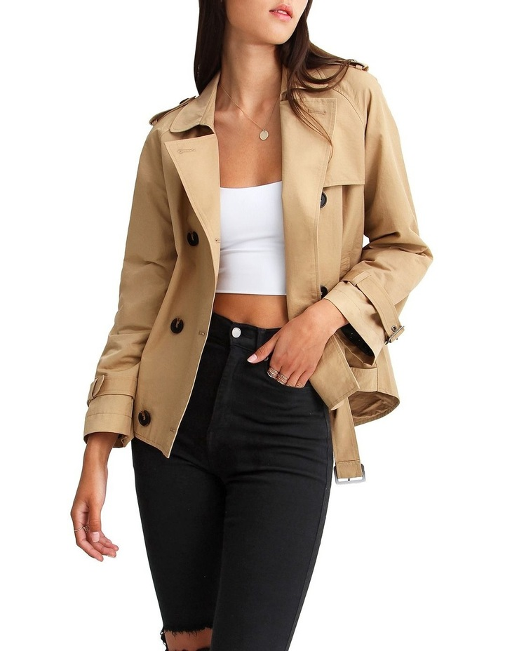 Cool Nights Cropped Trench Coat image 5