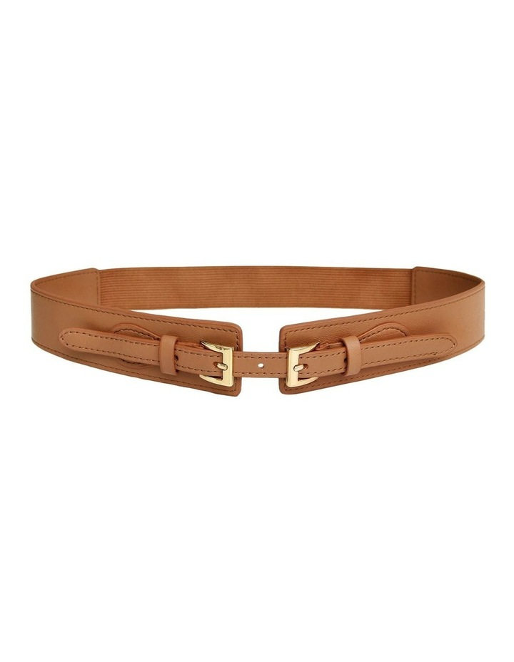 London Fog Brown Leather Belt image 1