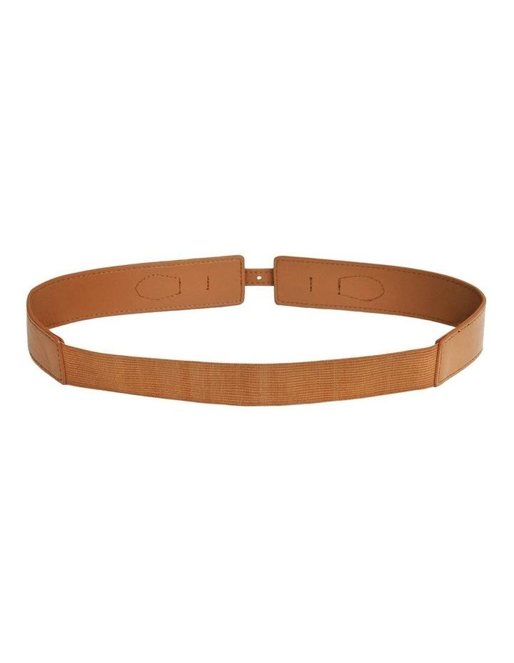 London Fog Brown Leather Belt image 2