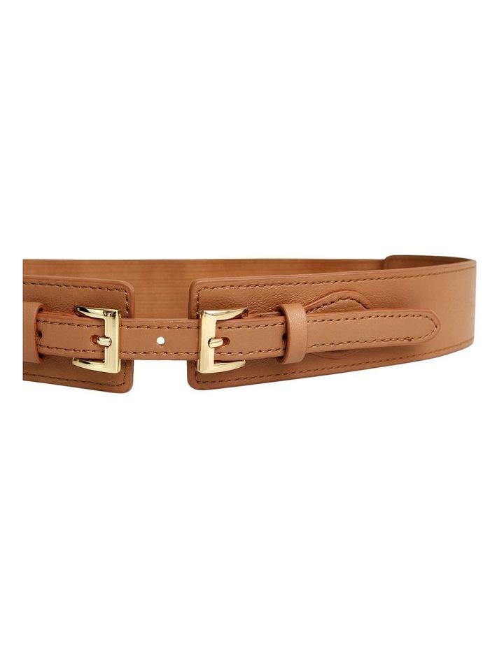 London Fog Brown Leather Belt image 4
