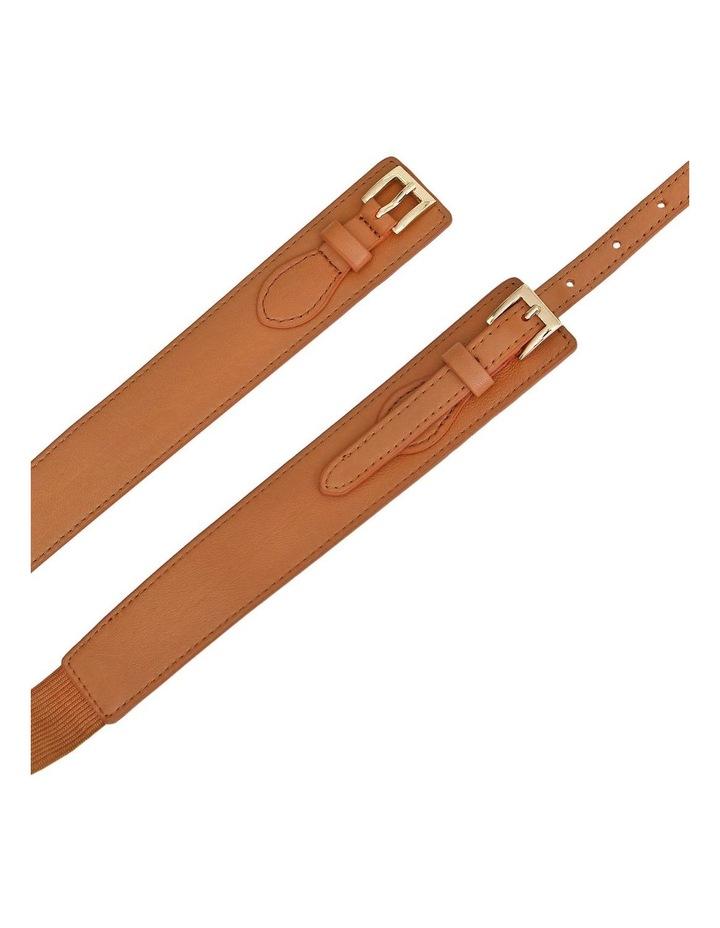 London Fog Brown Leather Belt image 5