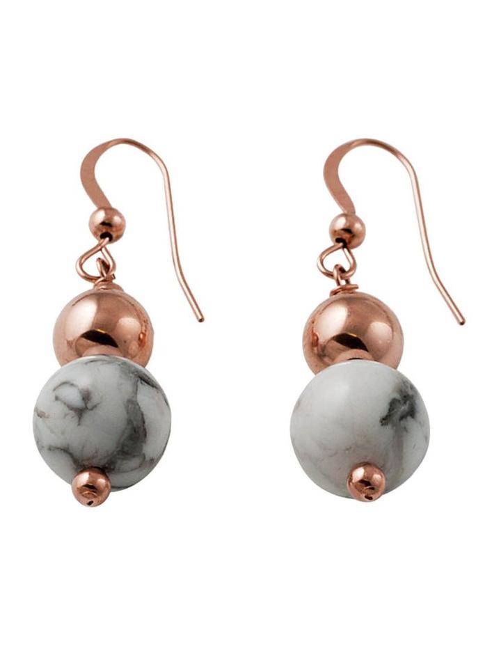 14K Rose Gold Filled Double Ball Hook Earrings (10MM X 8MM) image 1
