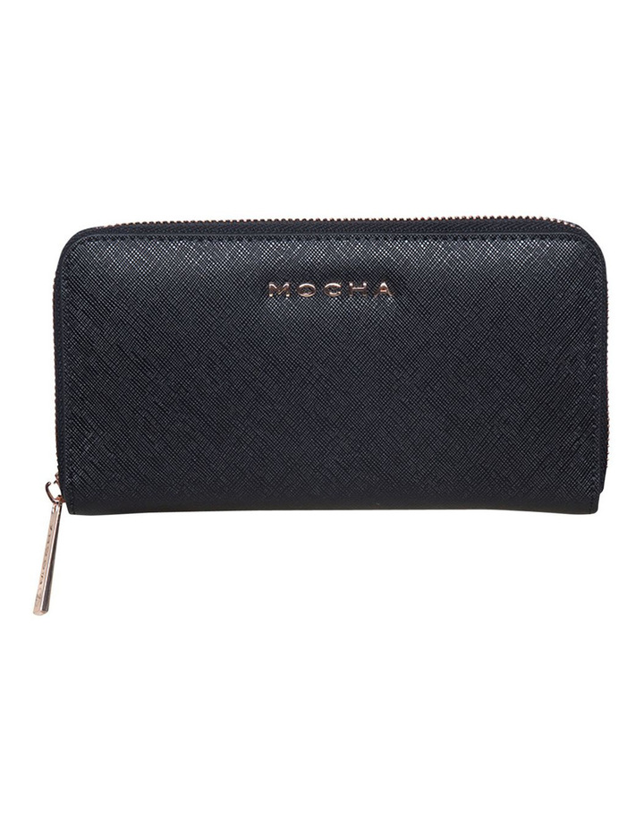 Kristi Leather Wallet - Black/Rosegold image 1