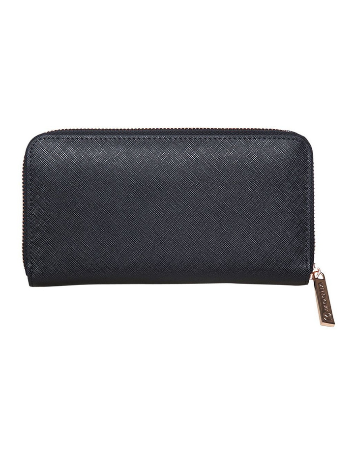 Kristi Leather Wallet - Black/Rosegold image 2