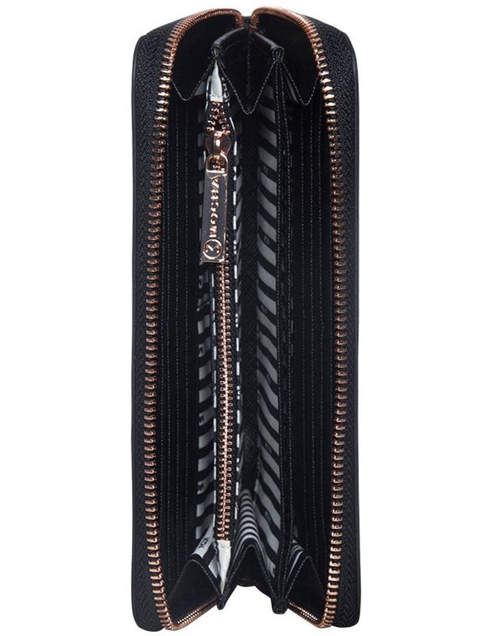 Kristi Leather Wallet - Black/Rosegold image 4