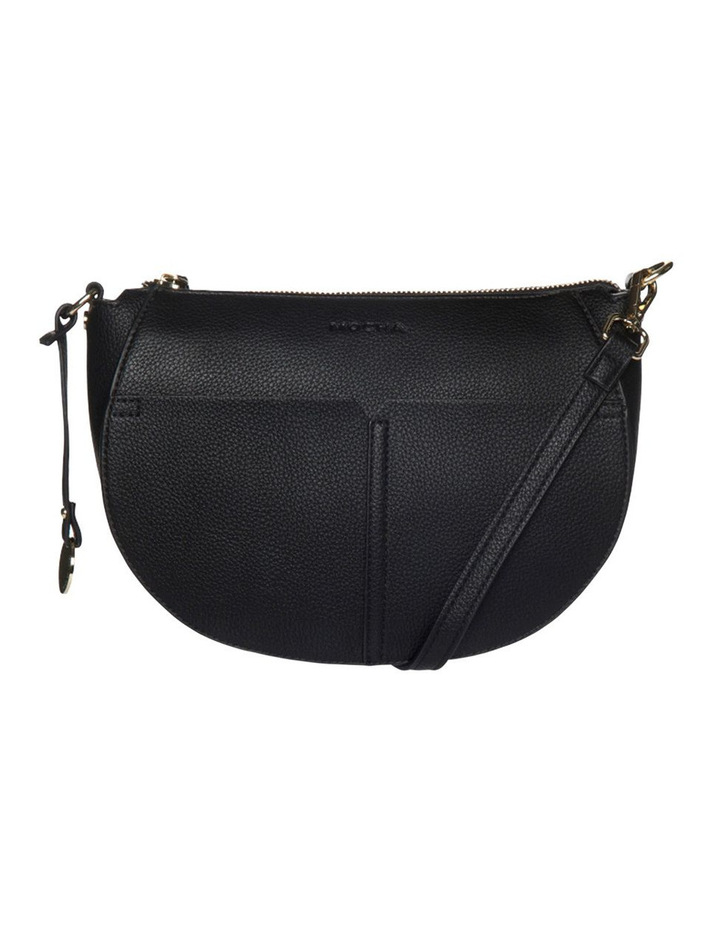 Gabi Half Moon Crossbody Bag - Black image 1
