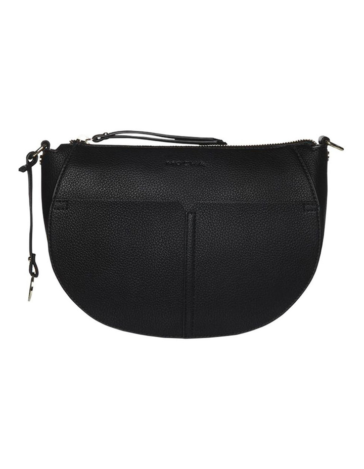 Gabi Half Moon Crossbody Bag - Black image 3