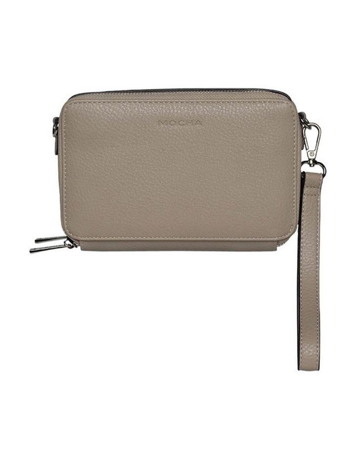 Double Zip Clutch Crossbody Bag - Light Taupe image 6