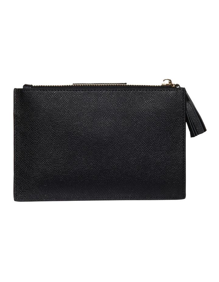 Tassel Clip Leather Coin Wallet - Black image 2