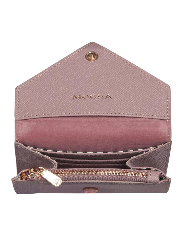 Envelop Leather Coin Wallet - Rose image 3