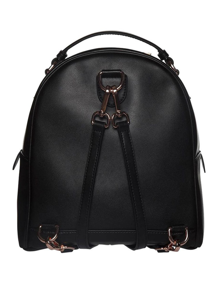 Chevron Shell Leather Backpack - Black/Rose Gold image 2