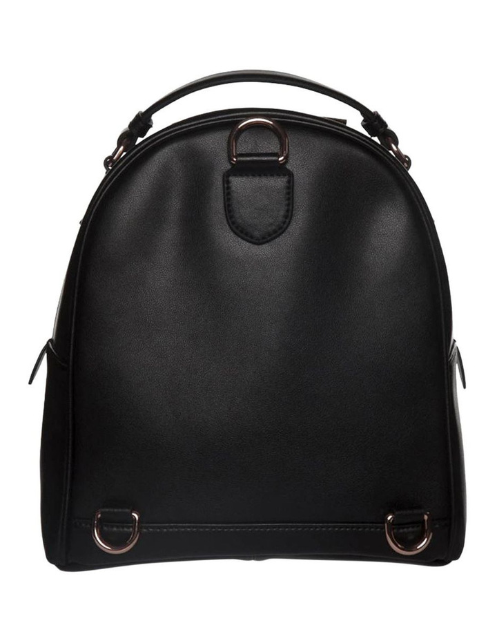 Chevron Shell Leather Backpack - Black/Rose Gold image 4