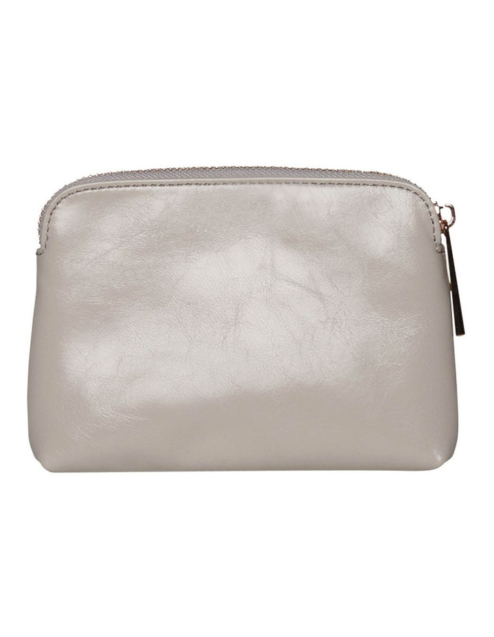 Sylvia Crinkled Patent Leather Coin Wallet - Grey image 2