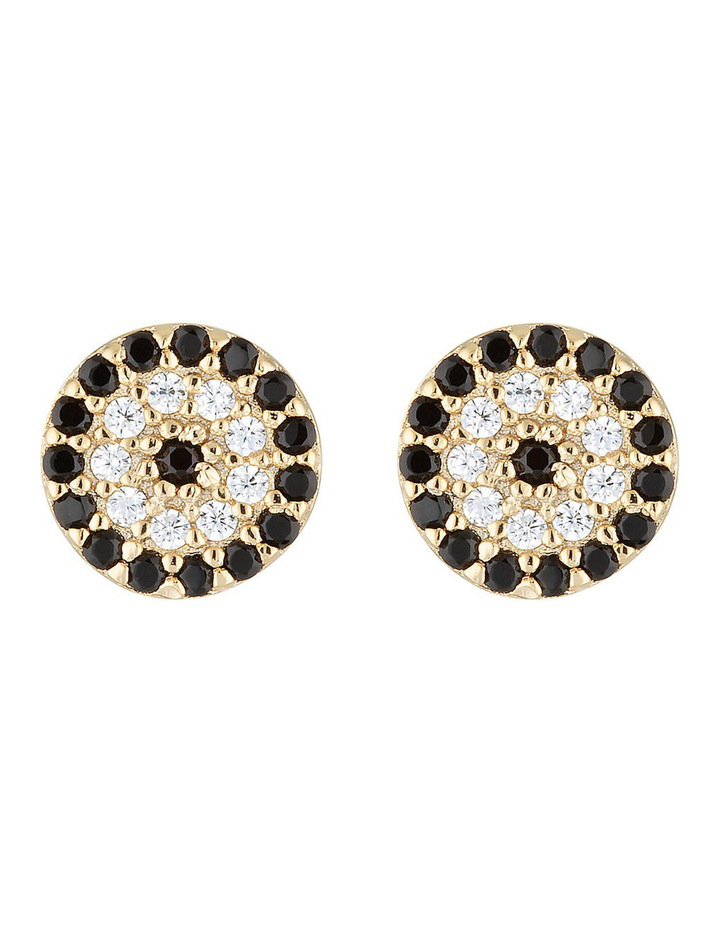 Lucky Stud Earrings-Gold image 1
