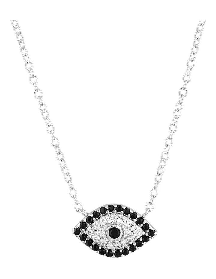 Evil Eye Necklace - Silver image 1