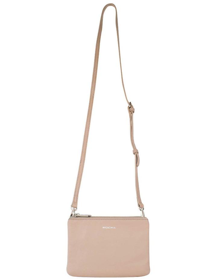 Ella Leather Crossbody Bag - Taupe image 3