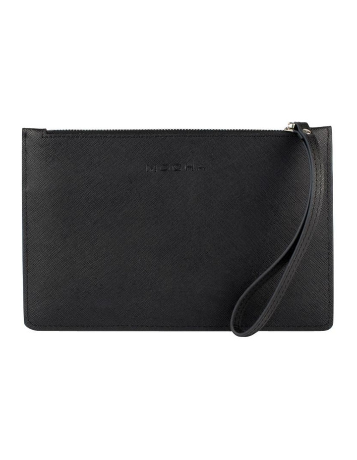 Small Jane Leather Clutch-Black image 1