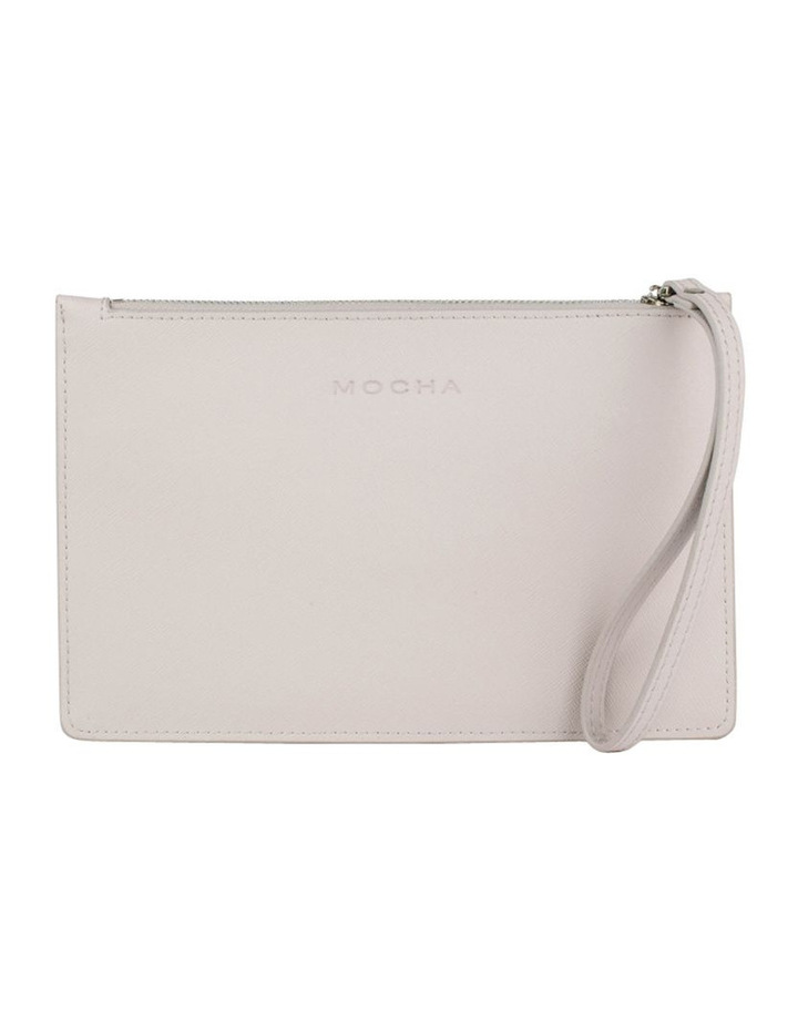Small Jane Leather Clutch-Grey image 1
