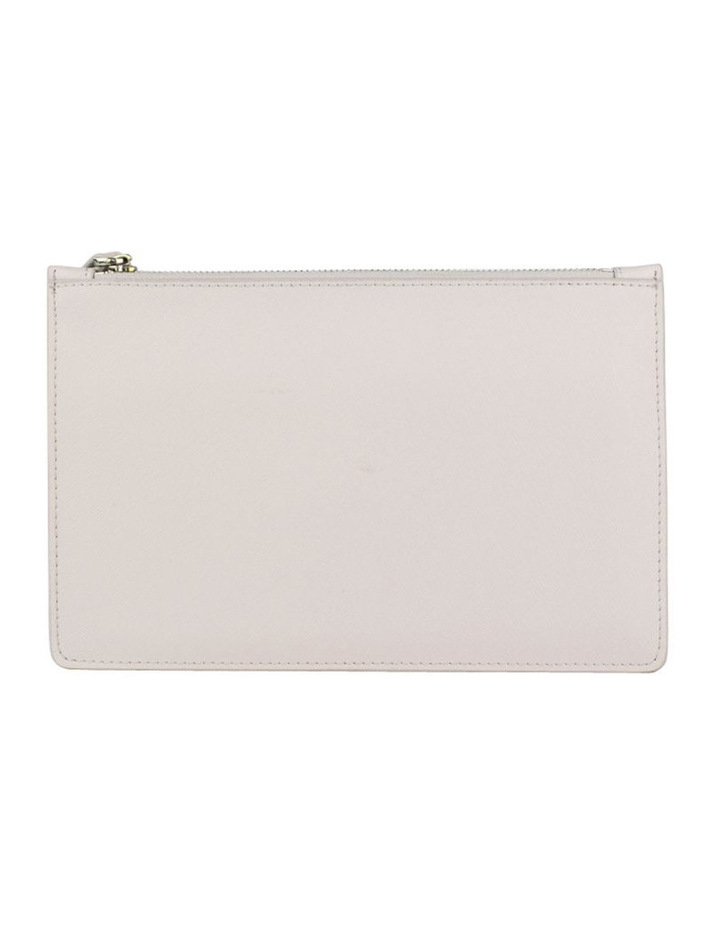 Small Jane Leather Clutch-Grey image 3