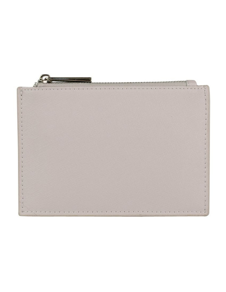 Jane Leather Coin Purse - Grey image 3