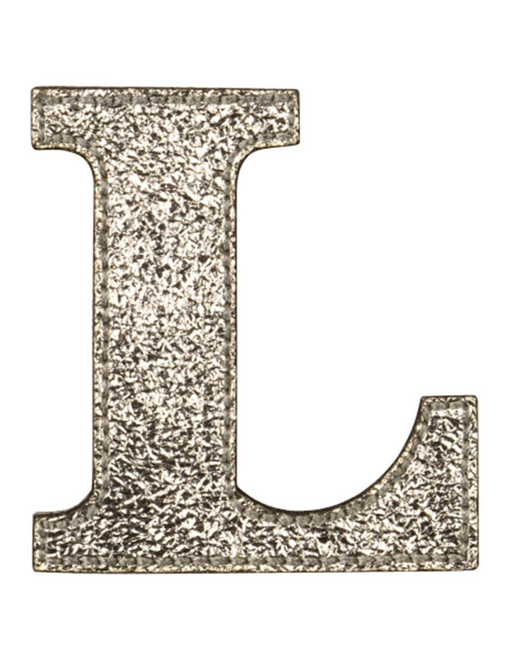 Leather Initial Sticker Patch- L Gold image 1