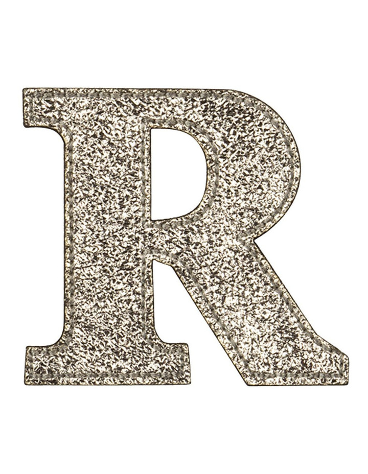 Leather Initial Sticker Patch- R Gold image 1