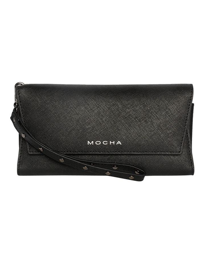 Day Organiser Black Leather Clutch image 1