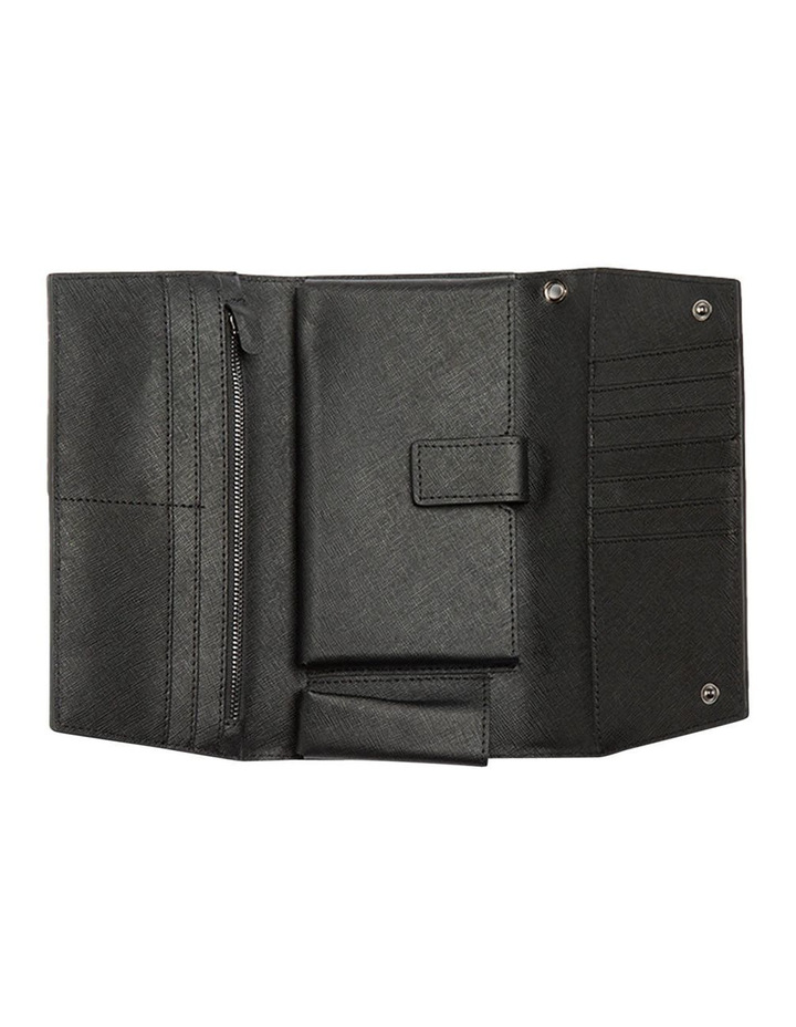 Day Organiser Black Leather Clutch image 2