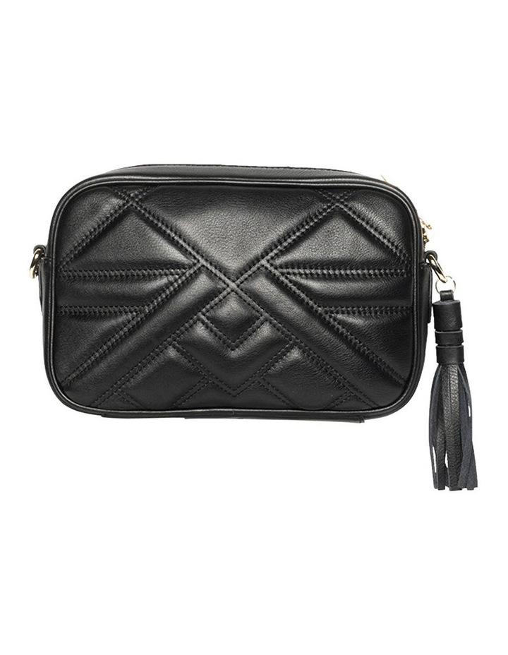 Aztec Leather Crossbody Bag - Black image 2