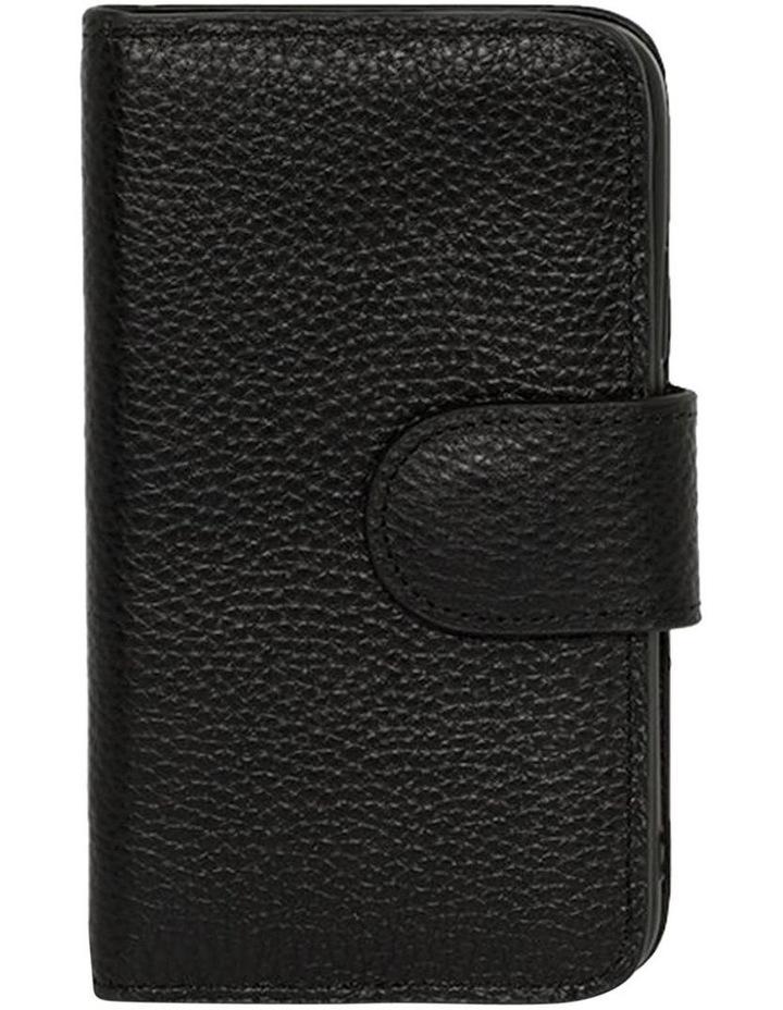 Leather Flip Phone Case Iphone X - Black image 1