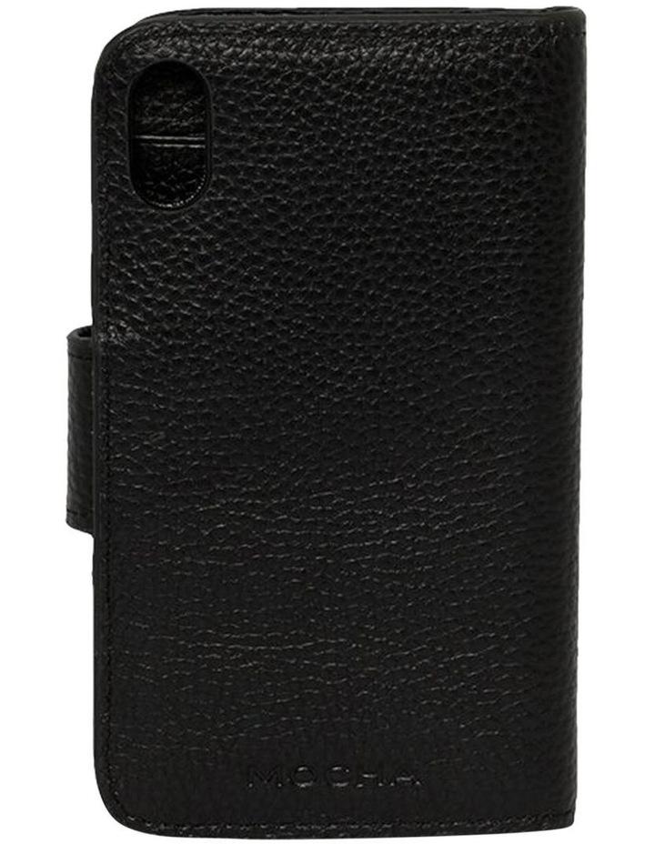 Leather Flip Phone Case Iphone X - Black image 2