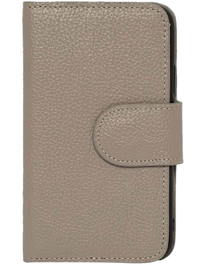 Leather Flip Phone Case Iphone X - Grey image 1