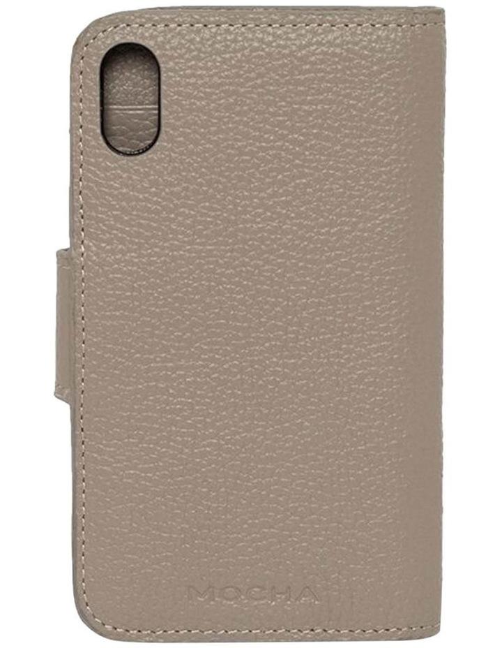 Leather Flip Phone Case Iphone X - Grey image 2