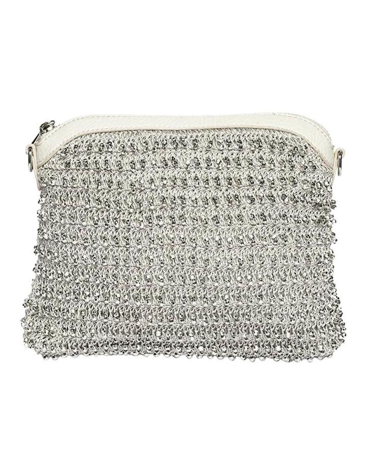 Beaded Silver Crossbody Bag image 1