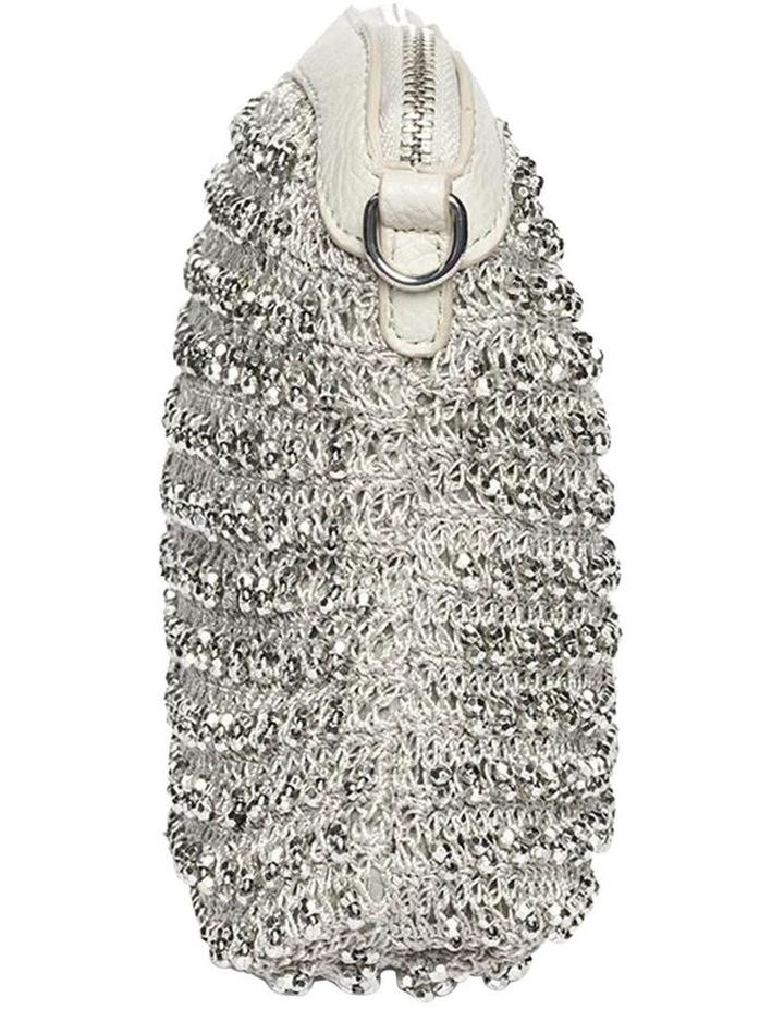 Beaded Silver Crossbody Bag image 2