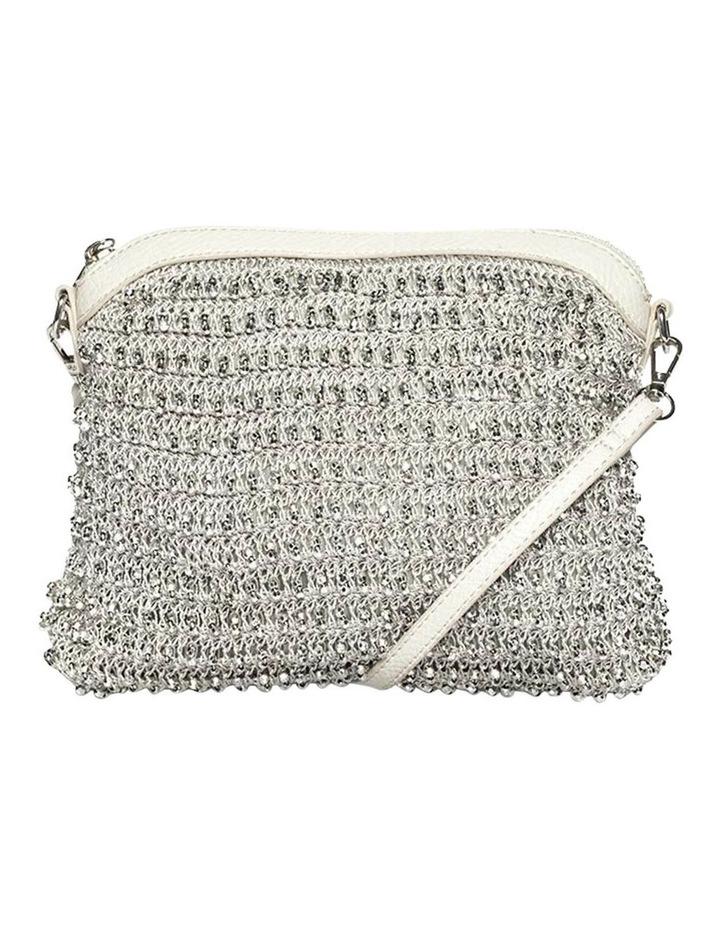 Beaded Silver Crossbody Bag image 3
