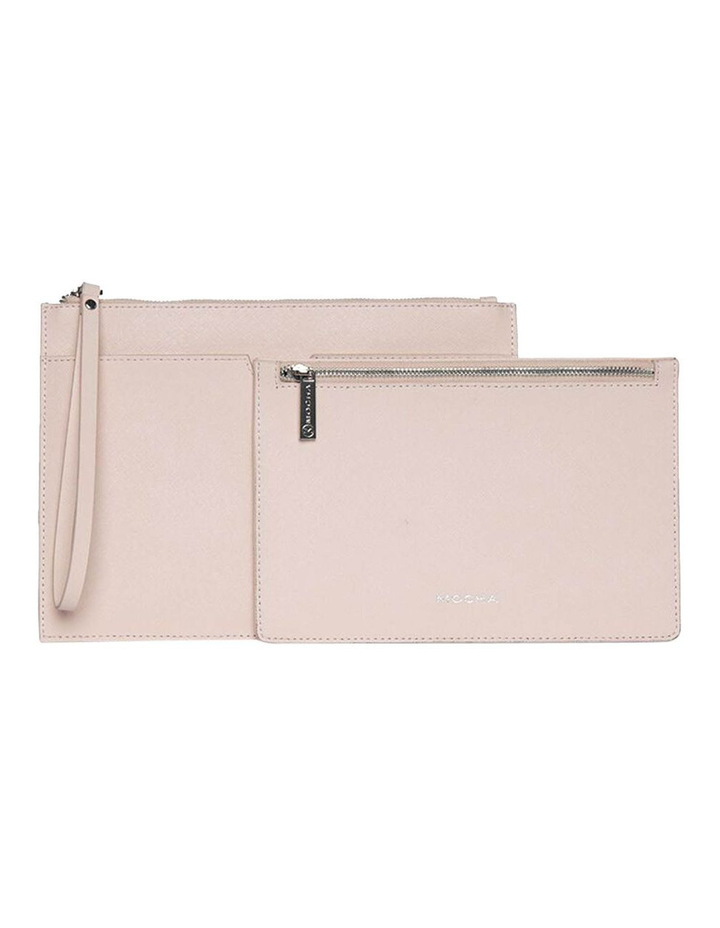 Jane Blush Double Leather Clutch image 2